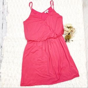 Guess Pink Faux Wrap Sleeveless Tank Dress